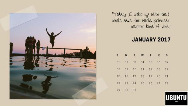 Ubuntu Goods Change the World Calendar Printable.png